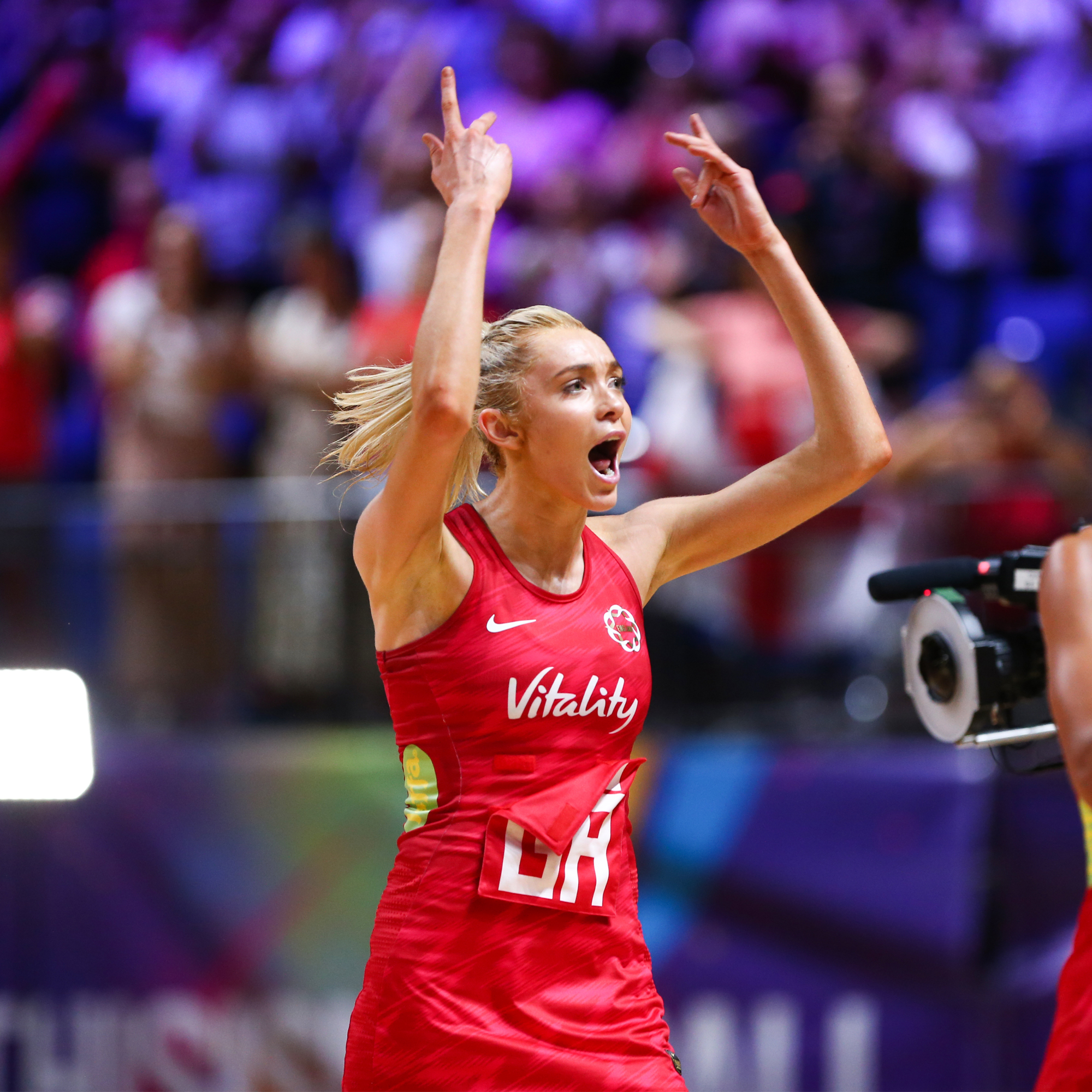 Picture by Alex Whitehead/SWpix.com - 15/07/2019 - Netball - Vitality Netball World Cup 2019 - Jamaica v England - M&S Bank Arena, Liverpool, England - Helen Housby of England.